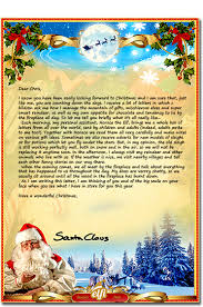 letters from santa free santa letters your personalized letter from santa