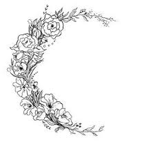 simple crescent moon tattoos aol image search results