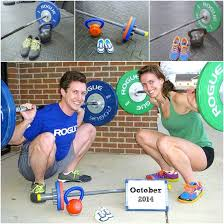 cross fit themed pregnancy announcement baby bean
