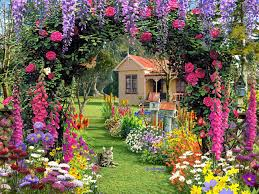 houses with flowers collection and house picture flower garden