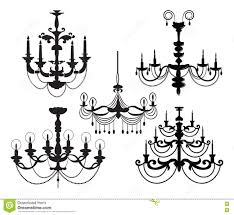 Black Chandelier Clip Art Black Chandelier Stock Illustrations U2013 1 675 Black Chandelier