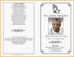 funeral programs exles funeral template templatesmberproco sle of a funeral program
