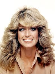 70 s style shag haircut pictures 70 s hair farah fawcett started it all feathered hair with the