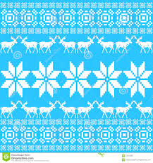 christmas ornament pattern blue nordic style royalty free stock