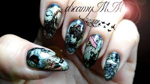 steampunk victorian stamping nail art youtube