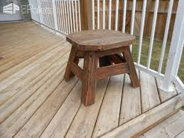 Patio Side Tables Patio Side Table Made From Upcycled Pallet Wood U2022 1001 Pallets