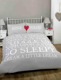 Couples Bed Set Mine Yours Grey Duvet Cover Couples Bedding Sets