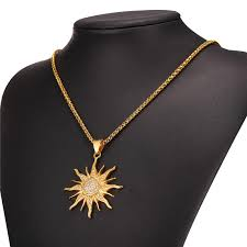 necklace for sun steel and rhinestone necklace for women xsolar net