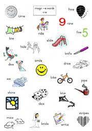 worksheet magic e words long i