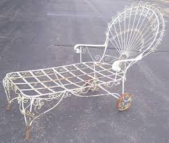 Antique Wrought Iron Patio Furniture by 42 Best Chaise Lounging W Vintage Wrought Iron Images On Pinterest
