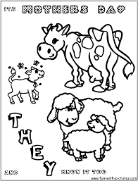 coloring pages of baby animals and mom coloring pages of baby