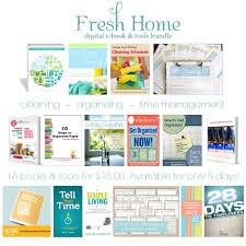 Home Clean Ended Fresh Home Ebook Bundle Organizing Cleaning And Time