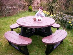 heavy duty round picnic table round picnic table esf seating burdens australia tables vinyl