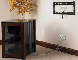 wall mounted tv hiding cables sanus in wall cable management system for mounted tvs