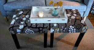 upholstered ottomans u2013 ikea lack table hack u2013 when the baby sleeps