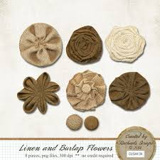 burlap flowers linen and burlap flowers rachaels scrap store