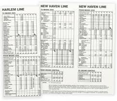 Metro Time Table Timetables U2013 I Ride The Harlem Line U2026