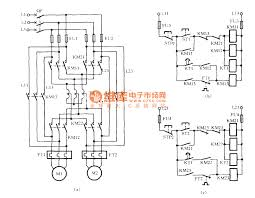 two motors starting circuit with autotransformer basic circuit