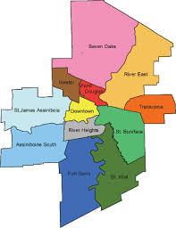 winnipeg map winnipeg families province of manitoba