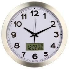 Horloge Murale Silencieuse by Pendule Horloge Murale Avec écran Digital Pour Heures