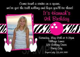 printable birthday invitations girls bowling party