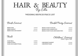 bridal hair prices hairandbeautybyella prices