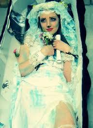 corpse wedding lisapixie murison home made wedding dress home made veil the