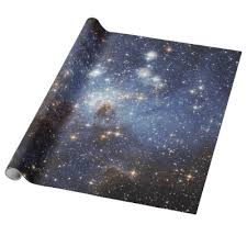 space wrapping paper clusters space wrapping paper zazzle