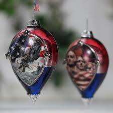 god bless america heirloom glass ornament collection