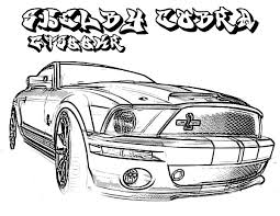 ford mustang shelby cobra gt 500 coloring pages place color