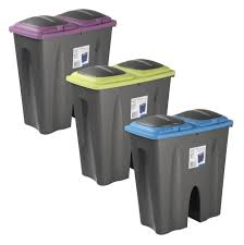 modern kitchen bins furniture chic colorful top double recycling waste bin dual