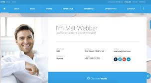Resume Web Template Resume Html Template Html Online Cv U0026 Resume Templates From