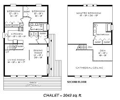 Weekend Cabin Floor Plans 2043