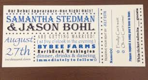 ticket wedding invitations ticket wedding invitations otteruk inc