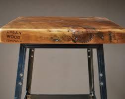 Reclaimed Wood Bar Stool Urban Bar Stool For Counter Height Bar Height Or Table