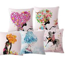 beautiful pillows for sofas high quality cartoon home decorative cushion sofa bed throw pillow