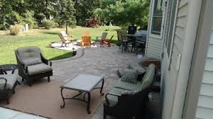 this hardscape outdoor living space in lewis center oh has all