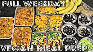 full week vegan meal prep for work or cheap lazy vegan
