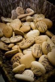 Wishing Rocks For Wedding Wedding Guestbook Irish Wishing Stones An Irish Wedding
