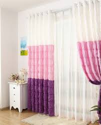 Decorative Curtains Marvelous Bedroom Curtains White Pink And Purple Decorative