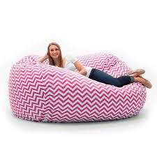 comfort research fufsack memory foam chevron pink 7 foot xxl bean
