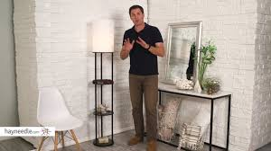 adesso charging station shelf floor lamp product review video