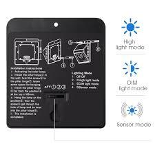 mpowtech solar lights 4 pack led motion sensor wall light bright