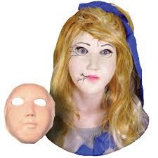 halloween prosthetic mask broken doll prosthetic mask accessories u0026 makeup