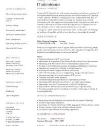 Example It Resumes by It Resume Template Resume Cv Cover Letter