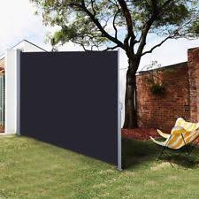 sunnydaze corner patio retractable privacy wall side awning 10 x