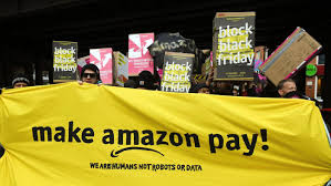 amazon germany workers in germany italy stage black friday strike