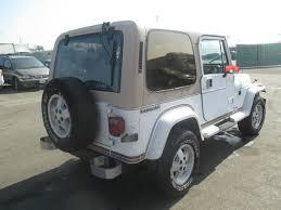 tan jeep wrangler 2 door 1990 jeep wrangler laredo sport utility 2 door 4 2l no reserve for