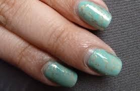 nailsbystephanie tutorial turquoise stone saran wrap nails