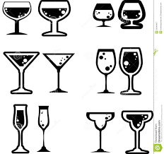 martini silhouette vector beverage icon royalty free stock photography image 34340467